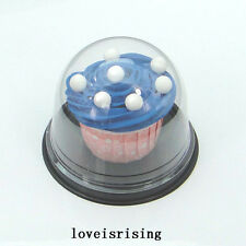 """50sets Clear Plastic 3"""" Regular Cupcake Mini Cake Container Muffin Holder Boxes"""