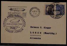 Brazil/Germany Zeppelin card 29.9.32