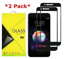 2X FULL COVER Tempered Glass Screen Protector For LG K30 / LG Premier Pro LTE