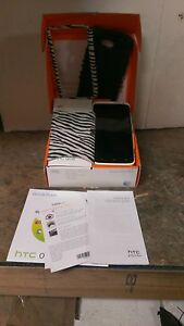 Damaged HTC One X White Smart Phone For Parts or Repair Bad Screen