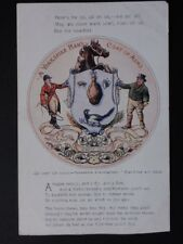 Yorkshire Man's Coat of Arms 'Qui capit ille hibet' Old Postcard by E.T.W.Dennis