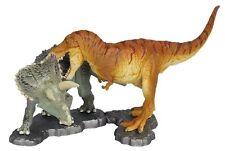 Kaiyodo miniQ Dinosaur Mini Figure Tyrannosaurus vs Triceratops Japan dinotales