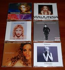 MADONNA 6x GERMAN CD SINGLE Lot RAIN FROZEN HUMAN NATURE I'LL REMEMBER DROWNED