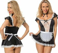0f39e6e51 Ladies French Maid Fancy Dress Costume Ladies Outfit Hen Party Naughty Girl  8-14