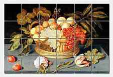 Boschart Still Life Ceramic Mural Backsplash Kitchen 26x17 in