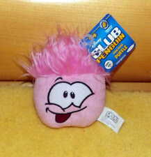 """Disney Club Penguin Plush Excited Pink 4"""" Puffle with Dark Rose Tongue"""