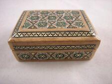 Khatam Jewelry/Trinket/Gift Box Persian Wooden Handcraft Inlaid Persia Fine Art
