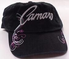 Hat Cap Chevrolet Chevy Camaro Ladies Bedazzled Black RK