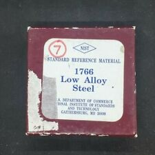 Nist Standard Reference Material 1766 Low Alloy Steel