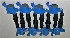SET OF 8 HEAVY DUTY IGNITION COIL DG511 FD508 BLUE NEW