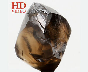 Natural Loose Diamond Crystal Rough I1 Clarity Brown Color 2.14 Ct KR1329