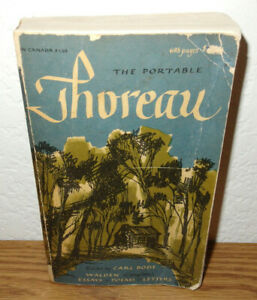 The Portable Thoreau 1959 Paperback Book