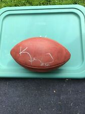 Wilson Duke game ball. Kenny Irons signed