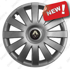 "4x15"" Wheel trims covers fit Renault Clio Kangoo Megane Scenic  15"" silver"