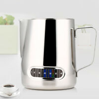 Milk Frothing Steam Pitcher 600ml Stainless Latte Art Coffee w/ Thermometer