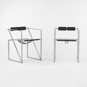1980s Pair of Postmodern Mario Botta for Alias Seconda Chairs with Arms in Gray