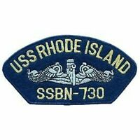 "USS RHODE ISLAND SSBN-730 EMBROIDERED NAVY MILITARY SUBMARINE CREW 5"" PATCH"