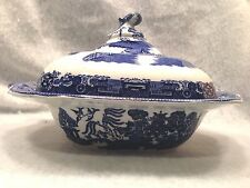 Old Willow Square Covered Casserole/Vegetable by Adderley of England
