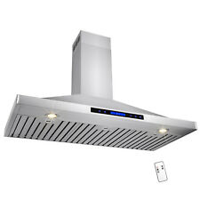 "48"" Stainless Steel Wall Mount Range Hood Touch Screen Display Kitchen"