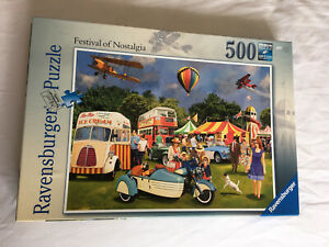 Ravensburger - Festival Of Nostalgia 500 Piece Jigsaw Puzzle - Used (Complete)