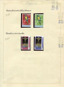 Weeda Guyana 26/121 VF MH collection 1967-1970 issues, animal topicals CV $45.65