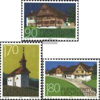 Liechtenstein 1186-1188 (kompl.Ausg.) postfrisch 1998 Baudenkmäler