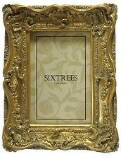 Antique Gold 6x4 Inch Photo Frame Swept Vintage Shabby Chic Very Ornate