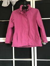 Hi Gear Size 12 Pink Lightweight Jacket With Fold Away Hood. (u7)