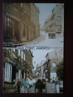 POSTCARD YORKSHIRE HAWORTH MAIN STREET - THEN & NOW