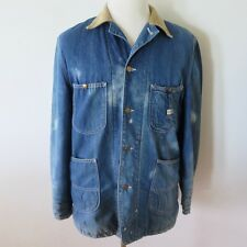 VINTAGE ORIGINAL LEE DENIM WORKWEAR JACKET BLANKET 81-LJ  1950's SIZE 38 SMALL