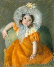 Mary Cassatt Reproductions: Margot in Orange Dress - Fine Art Print