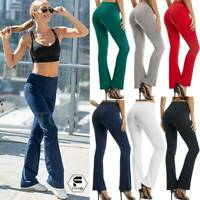 Women Bootcut Yoga Pants Bootleg Flare Trouser Workout Casual Loungewear Fitness