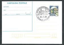1983 ITALIA CARTOLINA POSTALE CASTELLO DI SONCINO 300 LIRE FDC - 2