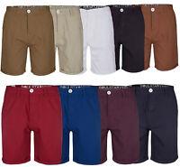 Soul Star Mens Casual Chino Shorts Summer Knee Length Bottoms Pants New