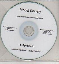 (CJ323) Model Society, Systematic - DJ CD