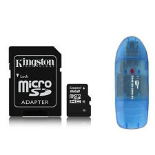 Lot 2 Kingston 16GB Class 4 Micro SD Micro SDHC (= 32GB) TF Speicherkarte + Reader