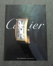F720-Advertising Pubblicità- 2000 - CARTIER MONTRE TANK AMERICAINE
