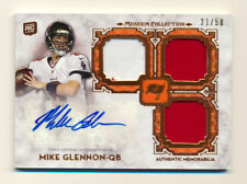 2013 TOPPS MUSEUM MIKE GLENNON RC TRIPLE PATCH/JERSEY AUTO AUTOGRAPH BEARS 21/50