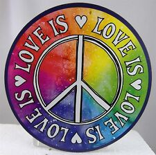 Peace LOVE IS LOVE magnet for car fridge bumper sticker Gay Pride LGBTQI Rainbow