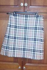 Highland Home Ind. Haymarket/BurberryTartan 100% Wool & Leather Scotland MINT!