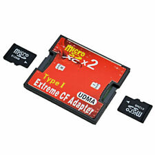 2 Ports Micro Sd Sdhc Sdxc Tf To Cf Adapter Extreme Compact Flash Card Converter