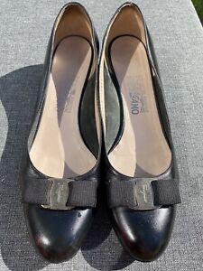 Salvatore Ferragamo Black Classic Flat Shoes Size 11 C Usa 41Eu 8 Uk