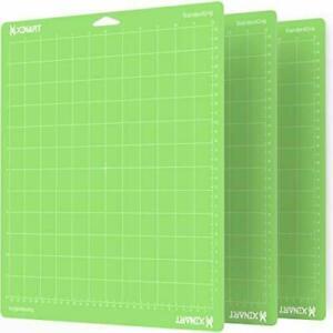 【3PCS Green】 Cutting Mat for Cricut Maker/Explore Variety 12''x12''