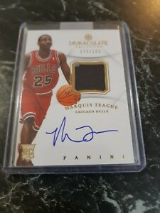 2012-13 PANINI IMMACULATE COLLECTION NBA PATCH/AUTO MARQUIS TEAGUE BULLS...
