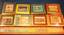 Lot of 8 Framed Disney Stamps