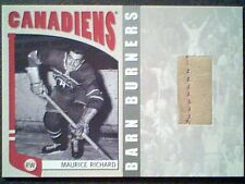 MAURICE RICHARD   AUTHENTIC PIECE OF A VINTAGE GAME-USED GLOVE /50  *SP*