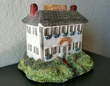 Vintage Clay Tea Lit Light Up House Mission Church Candle Holder