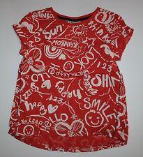 Siguiente Nuevo Gb Rojo Blanco Happy Sonrisa Brillo Arcoiris Grafiti Camiseta