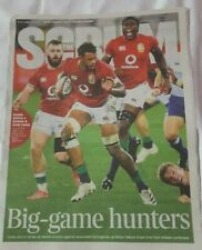 THE SCRUM.  TIMES supplement  31.7.21 RUGBY. The LIONS  SOUTH AFRICA 2021