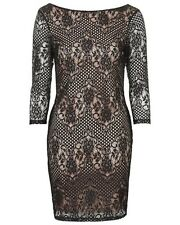 NWT Topshop Lace overlay Body-Con Dress Black US 6